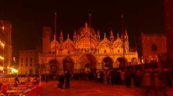 St.Mark's Basilica, Queue for Midnight Mass, Christmas Eve, photography by jane gifford