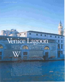 Venice Lagoon, pdf of feature in Italia! Magazine by jane gifford