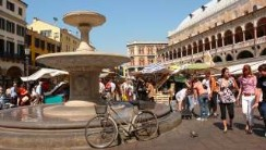 Padua, city of markets, piazza delle erbe, photography by jane gifford